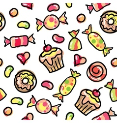 Funny candies vector