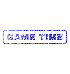Game time rubber stamp vector