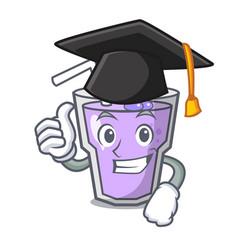 Graduation berry smoothie character cartoon vector