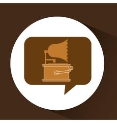 Gramophone vintage symbol icon vector