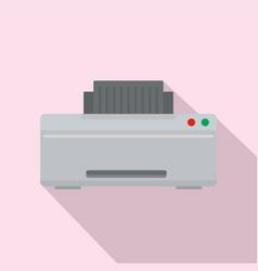 grey printer icon flat style vector image