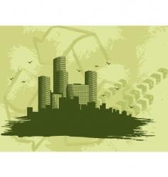 Grunge city banner vector