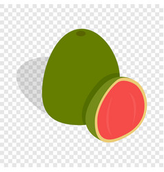 Guava fruit isometric icon vector