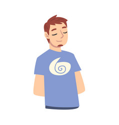 Guy dreaming about something male srudent vector