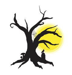Halloween tree for your design for holiday vector