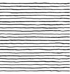 hand drawn stripe seamless pattern doodle black vector image