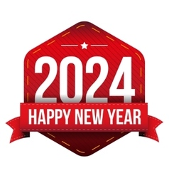 Happy New Year 2024 vector image