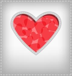 Heart cutout in gray card vector