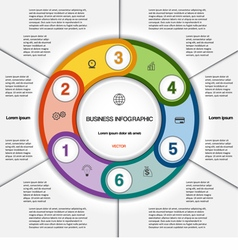 Infographic for success business project 6 vector image