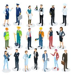 isometric people vector image