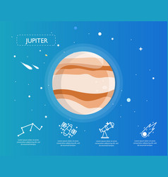 Jupiter infographic in universe concept vector