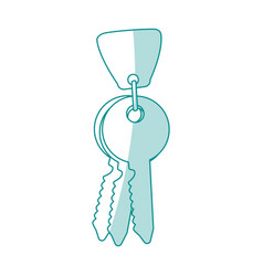 Key and keychain icon vector