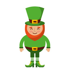 leprechaun happy cartoon st patricks day character vector image