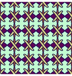 Line and cross seamless pattern 2703 vector