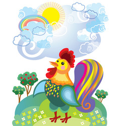 Little rooster vector