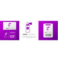 Logotype air freshener spray bottle icon isolated vector