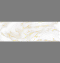 marble background white and gold colors vector image