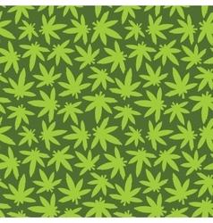 Marihuana ganja weed seamless pattern green vector