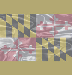 maryland state silk flag vector image