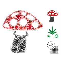Mushroom composition of marijuana vector