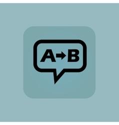 Pale blue A B message vector