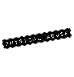 Physical abuse rubber stamp vector