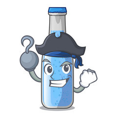 Pirate soda water and ice cubes cartoon vector