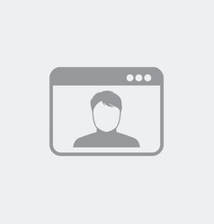 Profile picture on computer window vector