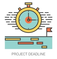 Project deadline line icons vector
