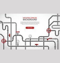 Realistic pipeline background vector