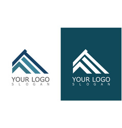 roof construction company logo vector image