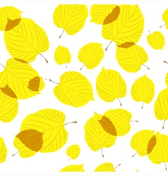 Seamless pattern of autumn leaves on the white vector image