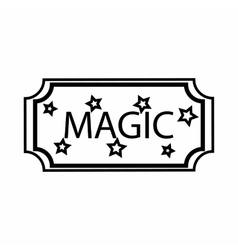 Sign magic icon outline style vector