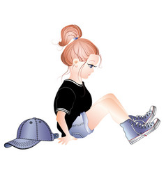 sports girl baby sneakers vector image