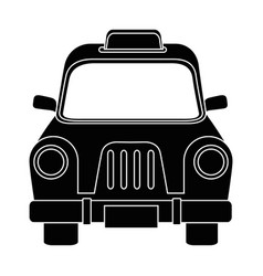 Taxi antique vehicle vector
