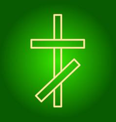 The christian cross icon vector