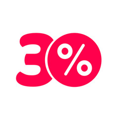 thirty percent off discount or 30 offer label vector image