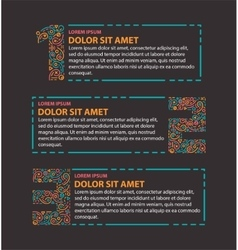 Three steps info graphics vector