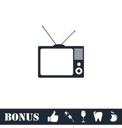 TV icon flat vector image