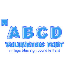 volumetric vintage alphabet font vector image