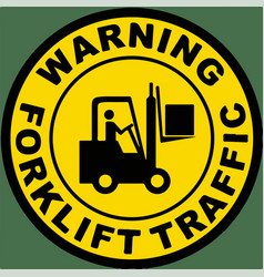 Warning forklift traffic floor sign vector