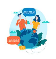 world environmental day ecology concept vector image