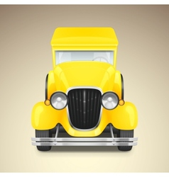 Yellow retro car vector image