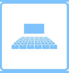 cinema auditorium icon vector image