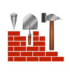 construction of buildings symbol for business vector image vector image