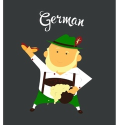 German man or character cartoon citizen of vector image