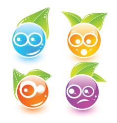 icon faces vector image vector image