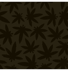Marihuana ganja weed seamless pattern vector image