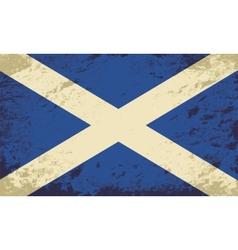 Scottish flag Grunge background vector image