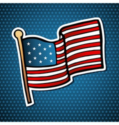 USA cartoon flag vector image